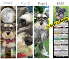 3 Set-Schnauzer 2019 Calendar Bookmark Standard Miniature Dog Makes Perfect Gift