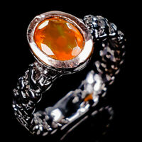 Rainbow8x6mm Natural Orange Opal 925 Sterling Silver Ring Size 8.75/R125386