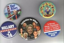 2016 pin HILLARY Clinton pinback Campaign button Collection  5 DIFFERENT !!!