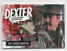 Sgt. Angel Batista DEXTER Season 4 2012 Breygent Costume Wardrobe Card #D4-C ABR