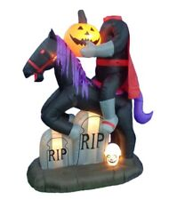 Halloween Air Blown Inflatable Yard Decoration Headless Horseman Pumpkin & Skull