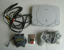 Sony Playstation PS One PS1 Slim Console w/ 1 Controller 2 Memory Cards Tested