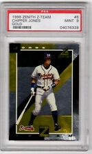 1998 Zenith Z-Team Gold  Chipper Jones  #8  - PSA MINT 9   Atlanta Braves