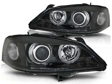OPEL ASTRA G 1998 1999 2000 2001 2002 2003 2004 HEADLIGHTS LPOP32 HALO BLACK