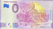 BILLET 0 EURO MARIA THERESIA AUTRICHE   2021 NUMERO DIVERS