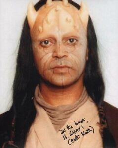 HASSANI SHAPI Star Wars 'Eeth Koth' Autograph Signed AFTAL & UACC 'Choice of 2'
