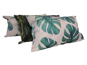 Tropical Leaf Rectangle Cushion 30x50cm Choose Cover Only/ Filled Cushion Leafs