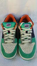 Nike 6.0 Dunk Ladies Sneakers Green Orange  White Blue Shoes Size 9  Preloved