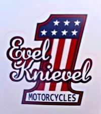 "Evel Knievel #1 Motorcycles Retro Sticker New 3"" x3"" Classic Biker"