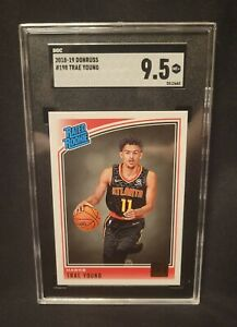 2018-19 Donruss RATED ROOKIE RC Trae Young #198 SGC 9.5 Non Auto Invest!!!
