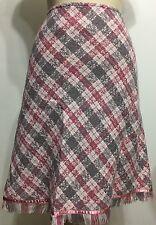 Mac & Jac Tweed Pinkish Aline Womwn Skirt Size 16