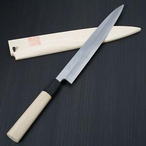 Japanese Yoshihiro Shirogami Steel Sushi Sashimi Yanagiba Knife 240mm Sakai Saya