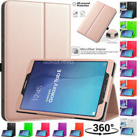 """Flip Leather Smart Stand Case Cover For Samsung Galaxy Tab E 9.6"""" SM-T560/T561"""
