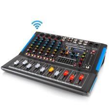 Pyle PMXU67BT Bluetooth 6 Ch. Studio DJ Controller Audio Mixer Console System