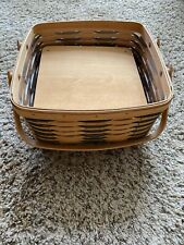 1999 Longaberger Basket, Pie Carrier With Separater