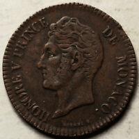 MONACO 5 CENTIMES 1837