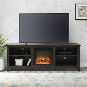 "Walker Edison Traditional Fireplace TV Stand for TVs up to 78"" - Espresso"