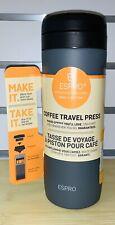 ESPRO 12 oz Travel Coffee Press, Stainless - Steel/Black