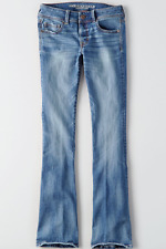 NEW AMERICAN EAGLE KICK BOOT  STRETCH X MID RISE WOMENS JEANS SIZE 16