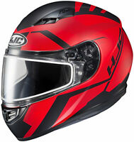 HJC Adult Red/Black CS-R3 Faren Full Face Dual Lens Snowmobile Helmet Snow 2020