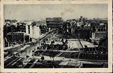 Roma Rom Italien Italy Postcard 1934 Via dell' Impero Teilansicht mit Kolosseum
