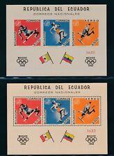"ECUADOR 1967, Bl. 37-38 A-B **/MNH, ""Olympic games "", very fine!!"