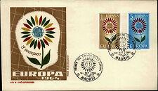 Primero etiquetas carta FDC First Day cover españa Espana Europa primer dia 1964 Madrid