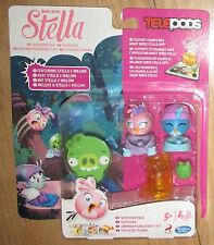 Hasbro Angry Birds TelePODS Sleepover 2 figures pack Featuring Stella Willow