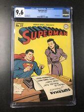 Superman # 27. D. C. Comics, 3-4/44 CGC 9.6
