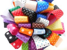 25mm Micro/ Polka Dot Ribbon Bundle 8 X 1Mtr by Berisfords