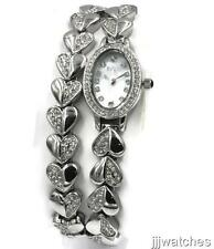New Elgin Women Crystals Mother Of Pearl Dial Watch Bracelet Set 18mm EG9030ST