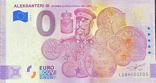 BILLET 0  EURO ALEKSANTERI III FINLANDE  2020 NUMERO DIVERS