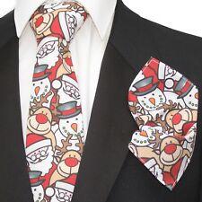 NEXT Mens Christmas Tie Xmas Snowman Penguin BNWT Party Secret Santa Gift