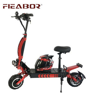 Fieabor 3600w/60v Two Wheel Off Road 11in Folding Electric Kick Scooter