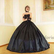 Ballrock Taftrock für Ballkleid schwarz gothic Festkleid WGT