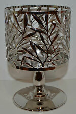 BATH & BODY WORKS VINE LEAF PEDESTAL LARGE 3 WICK CANDLE HOLDER SLEEVE 14.5 OZ