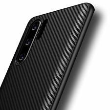 Huawei P30 Pro Hülle AVANA Schutzhülle Silikon Case Schwarz Cover Carbon Optik