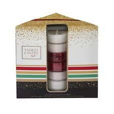 Yankee Candle Gift Set Tea Lights Festive Christmas Present with Holder 12 Pack