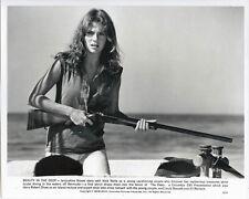 JACQUELINE BISSET holding rifle on boat THE DEEP 1977 Original 8x10 Photo