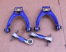 GEN 2 BLUE FRONT UPPER A-ARM+REAR CAMBER KIT HONDA CIVIC 96-00 EK EJ EK4 EK9 EJ9