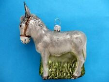 DONKEY EUROPEAN BLOWN GLASS CHRISTMAS TREE ORNAMENT ESEL
