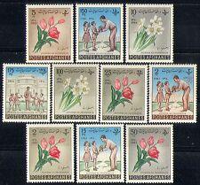 Afghanistan 1961 fiori/NATURA/Insegnanti 10 V Set n28835