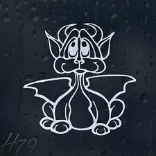 Funny Cartoon Devil Dragon Car Decal Vinyl Sticker
