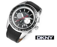 DKNY MEN'S CHRONOGRAPH TACHYMETER BLACK V.I.P. WATCH NY1488