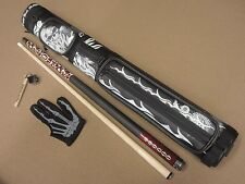 Voodoo Pool Cue VOD20 Gift Set Eight Ball Mafia 2x2 Case Chalker & Glove Package