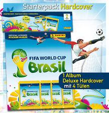 Panini WC WM BRASILIEN BRASIL 2014 – HARDCOVER DELUXE ALBUM + 4 Tüten packets