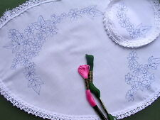 Printed to embroider cotton Dressing Table Chewal Set Woodland flowers CSOO29