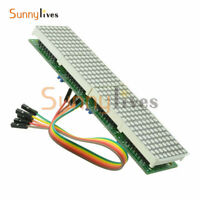 MAX7219 4 In 1 Blue LED Line Dot Matrix Microcontroller Module For Arduino