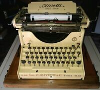 OLIVETTI M20 1922 OLD  TYPEWRITER ITALY CONSERVATIVE RESTORATION TYPE COLONIALY