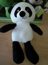 "Spark Create Imagine Knit Panda Bear Plush Stuffed Animal Rattle 14"" NWT"